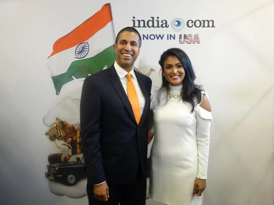 Ajit Pai and Miss America 2014 Nina Davuluri