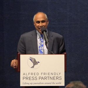 Frank Islam speaking at the Alfred Friendly Fellowship graduating event