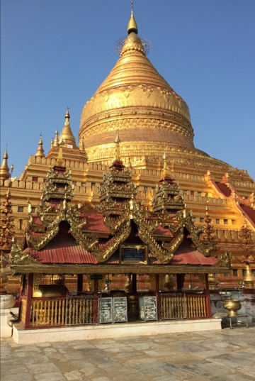 A magnificent pagoda in Bagan, Myanmar.