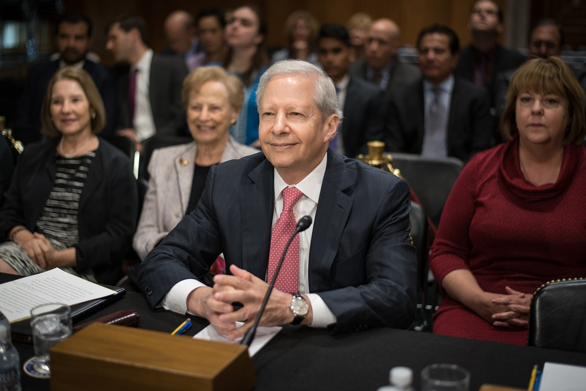 Kenneth Juster, President Trump's choice for US Ambassador to India, testifying before the Senate Foreign Relations Committee on Tuesday, October 3, 2017.