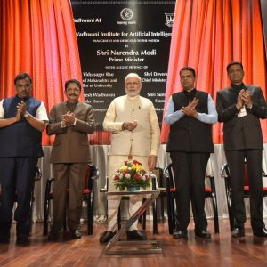 Prime Minister, Shri narendra modi at the inauguration of the Wadhwani Institute for Artificial Intelligence, in Mumbai, Maharashtra