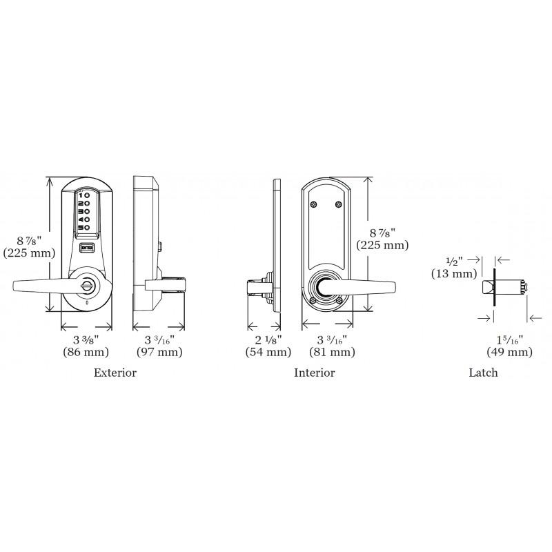 KABA Simplex 5000 Series Cipher Mechanical Push Button