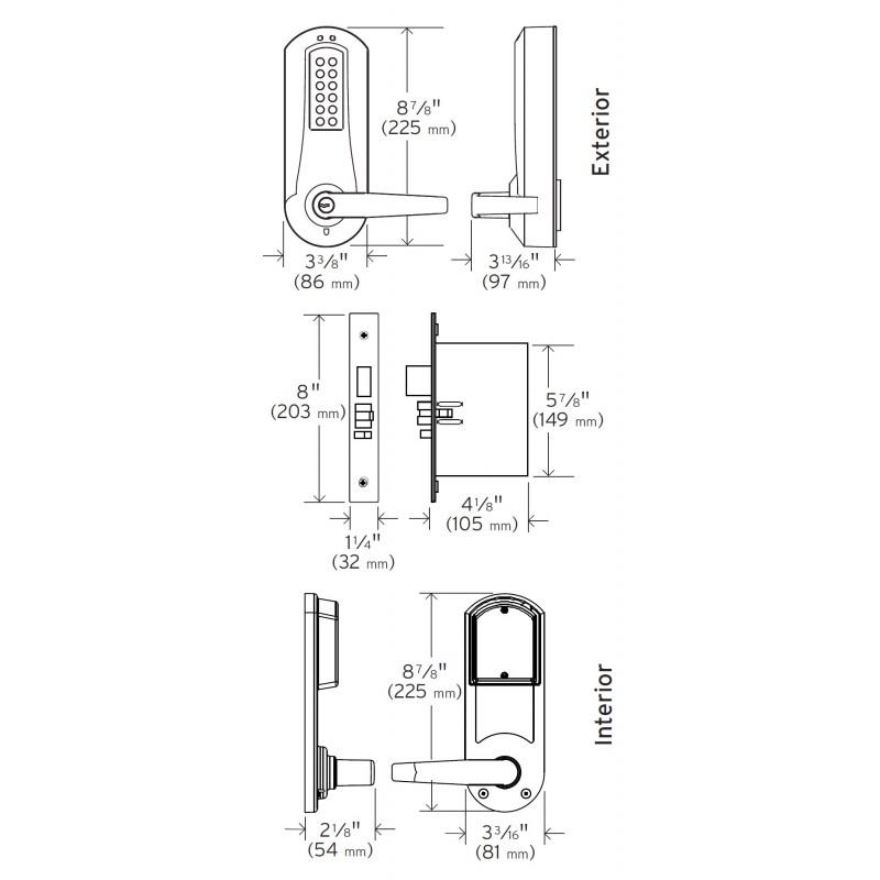 KABA E-Plex 5200 Series Grade 1 Electronic Push Button
