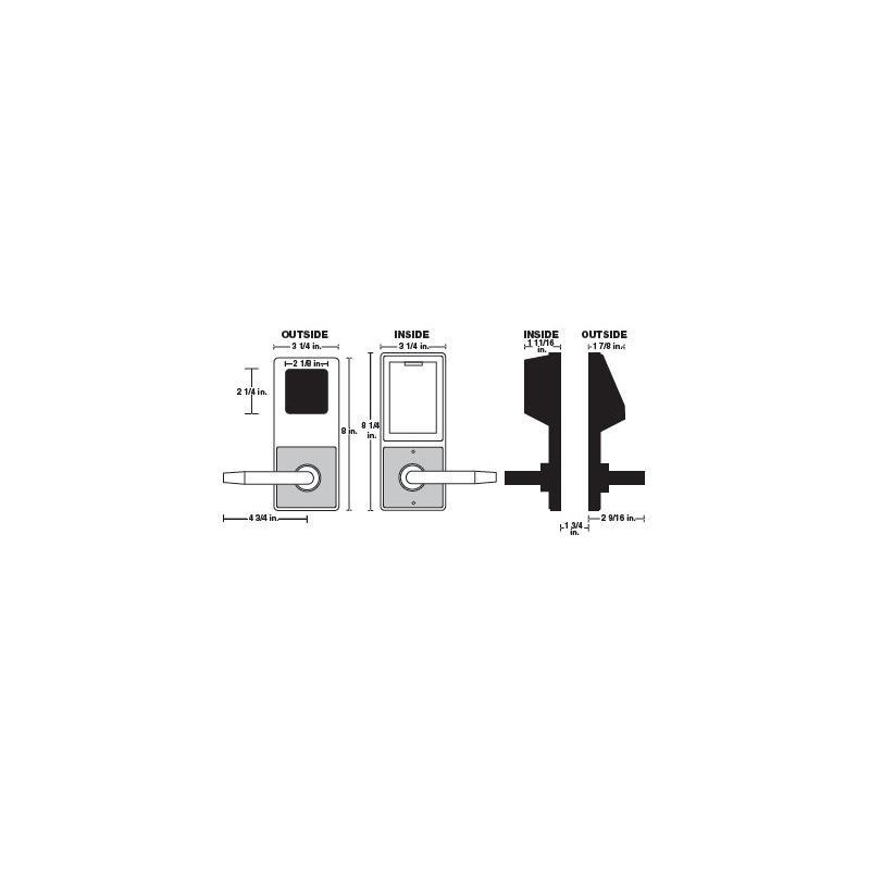 Alarm Lock DL2700 Series Trilogy T2 Cylindrical Keyless