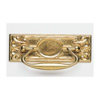 Omnia 9448-100 Drop Pull Solid Brass Cabinet Hardware