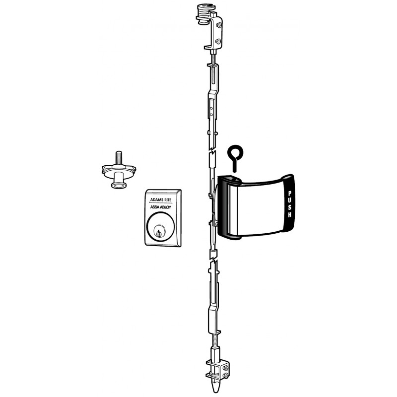 Adams Rite 4781 Two-Point Deadlatch with Paddle for Paired