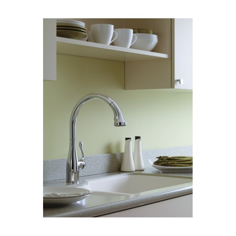hansgrohe allegro e kitchen faucet step 2 little bakers 6460000 gourmet 2-spray semipro ...