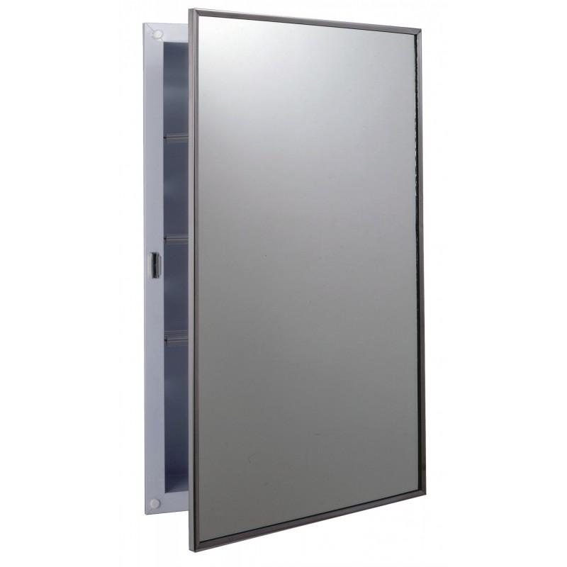 Bobrick B397 Recessed Medicine Cabinet with Plastic Shelves