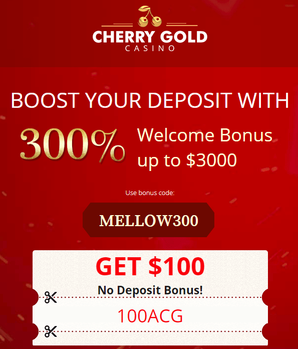 Cherry Gold Casino No Deposit Bonus $100 FREE!