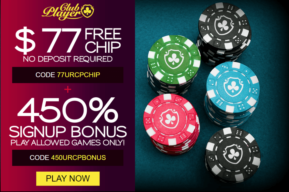 Club Player Casino No Deposit Bonus $77 FREE