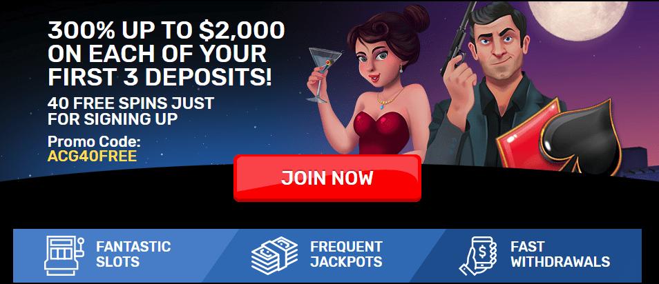 Drake Casino No Deposit Bonus 40 FREE Spins!