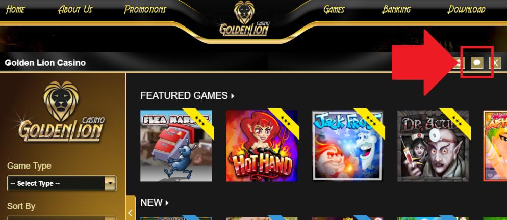 Golden Lion Casino Bonus Code