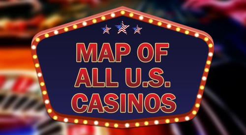 Map of all U.S. casinos