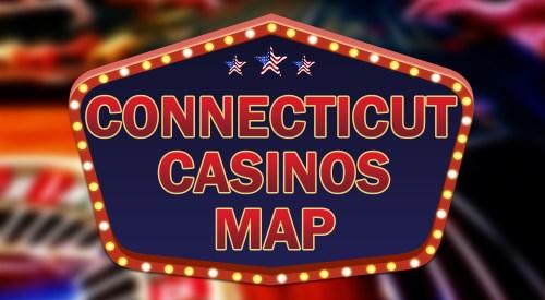 Connecticut casinos map