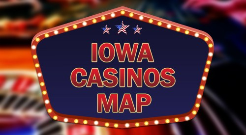 Iowa casinos map