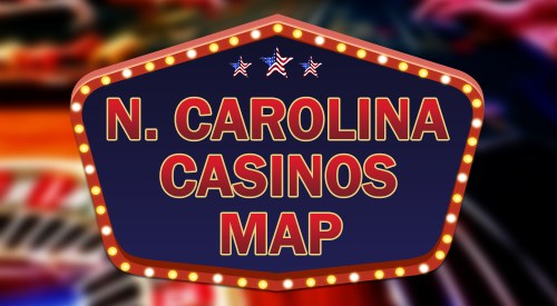 North Carolina casinos map