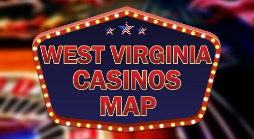 casinos in West Virginia map