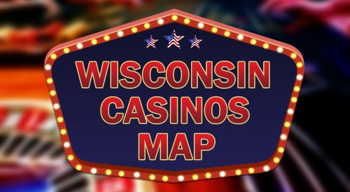 WIsconsin casinos map