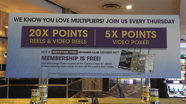 20 times points casino promotion