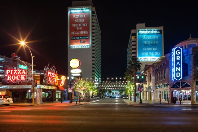 Downtown Grand Casino at night