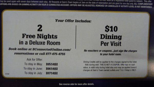 free room offers from casinos