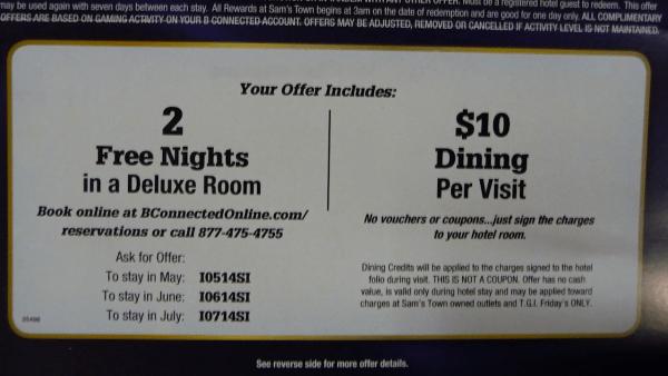 penawaran kamar gratis dari kasino
