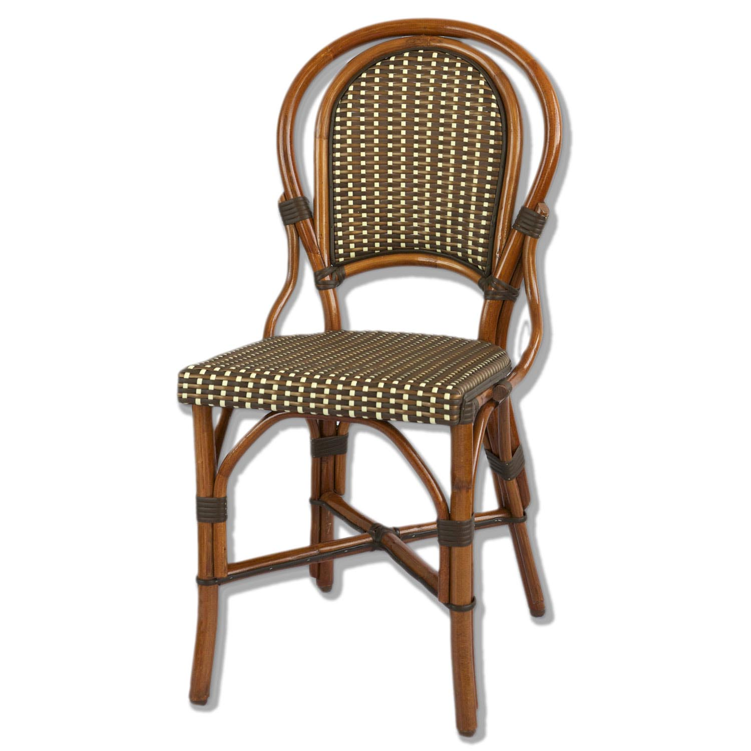 french rattan bistro chairs biokinesis chair exercises for seniors dvd marais ivory brown bronze american country