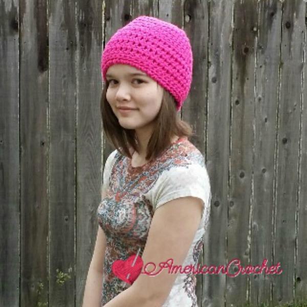 Hot Heads Beanie | Free Crochet Pattern | American Crochet @americancrochet.com #freecrochetpattern