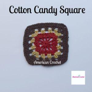 Cotton Candy Square | Free Crochet Pattern | American Crochet @americancrochet.com #freecrochetpattern