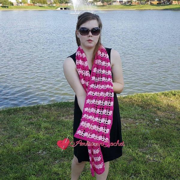Duet Scarf | Free Crochet Pattern | American Crochet @americancrochet.com #freecrochetpattern