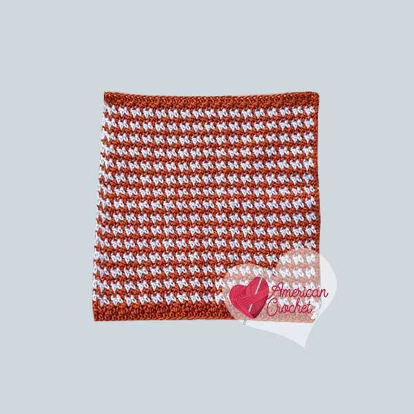 Pumpkin Spice Washcloth | Free Crochet Pattern | American Crochet @americanccrochet.com #freecrochetpattern