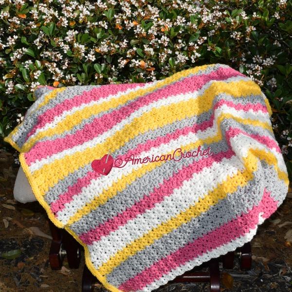 Tickled Blossom Baby Blanket | Free Crochet Pattern | American Crochet @americancrochet.com #freecrochetpattern