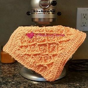 Diamond Seed Stitch Dishcloth | Free Crochet Pattern | American Crochet @americancrochet.com #freecrochetpattern