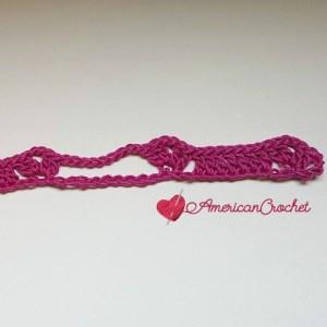 Diamond Bars Scarf | Free Crochet Pattern | American Crochet #freecrochetpattern