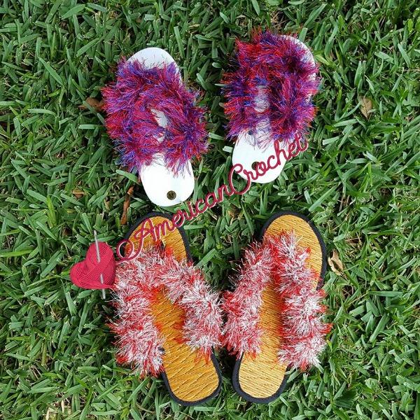 Funky Sandals | Crochet Pattern | American Crochet @americancrochet.com #FunkySandals