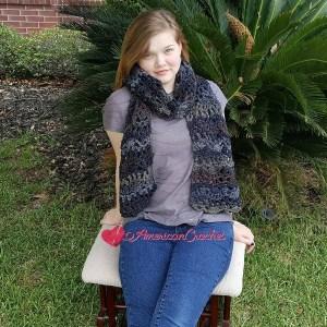Night Skies Scarf | Free Crochet Pattern | American Crochet @americancrochet.com #freecrochetpattern