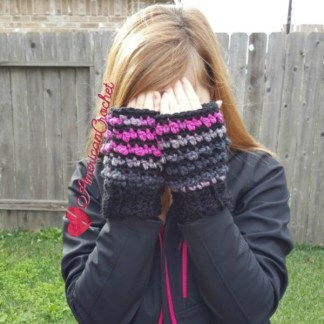 Raspberry Coffee Mitts free crochet pattern