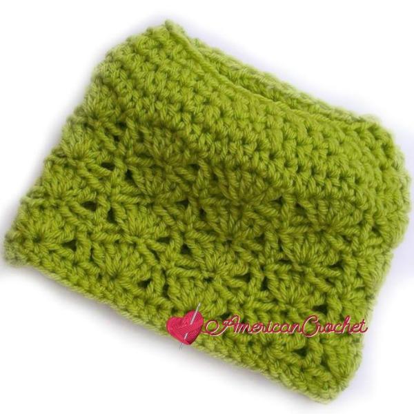 Bonfire Babe Messy Bun Hat | Crochet Pattern | American Crochet @americancrochet.com #crochetpattern