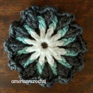 MARTHA Circle in A Square   American Crochet @americancrochet.com