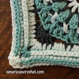 FAITH Circle in A Square   American Crochet @americancrochet.com