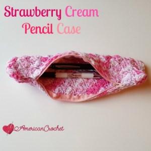 Strawberry Cream Pencil Case | Crochet Pattern | American Crochet @americancrochet