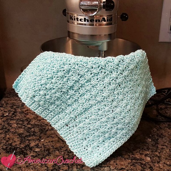 Honey Bee Dishcloth | Crochet Pattern | American Crochet @americancrochet.com #crochetpattern