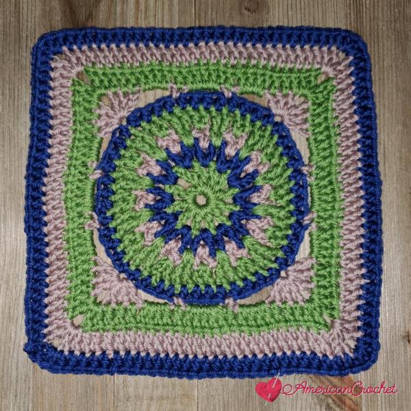 Pilot Square | Crochet Pattern | American Crochet @americancrochet.com #crochetalong