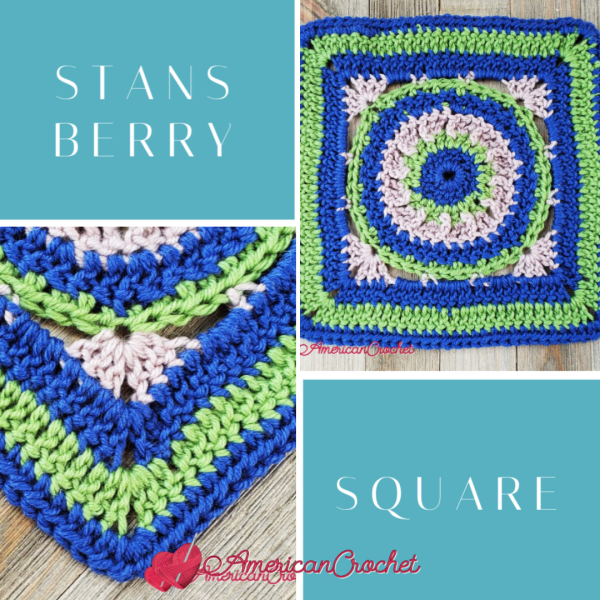 Stansberry Square   Crochet Pattern   American Crochet @americancrochet.com #crochetalong #crochetpattern