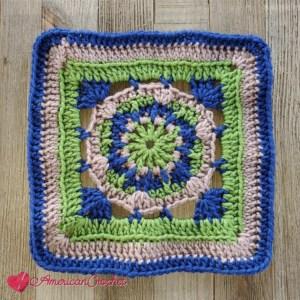 Hype Square   American Crochet @americancrochet.com #crochetalong