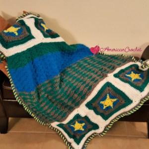 2018 Ocean Medley Blanket | American Crochet @americancrochet.com
