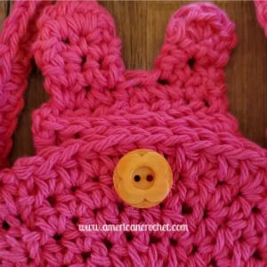Hippity Hoppity Mini Bag | American Crochet @americancrochet.com
