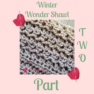Winter Wonder Shawl Part Two
