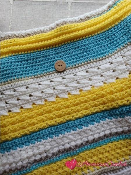 Happy Throw Two Part Eleven | American Crochet @americancrochet