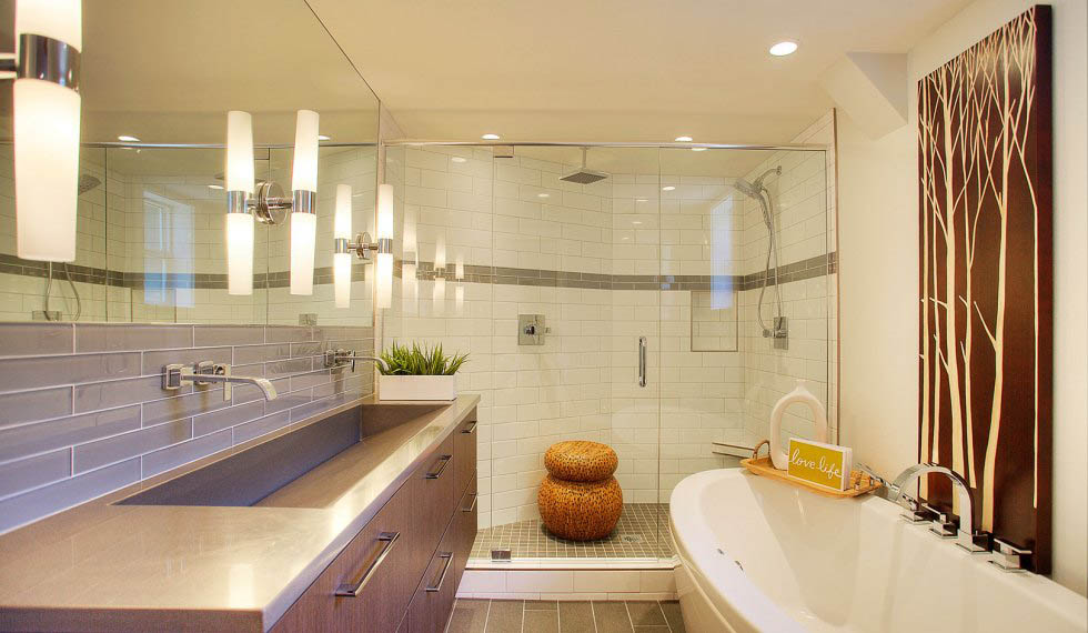 N Th Street Modern Bath Remodel American Design International - Bathroom remodeling tacoma wa